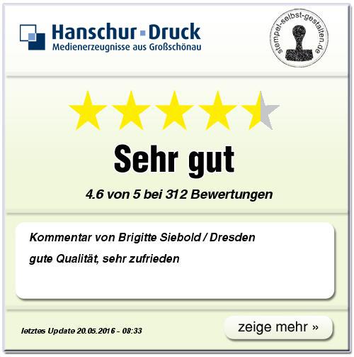 Kundenbewertung von www.stempel-selbst-gestalten.de